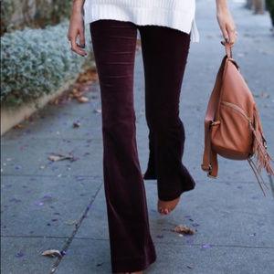 7 For all Mankind Brown Velvet Jeans